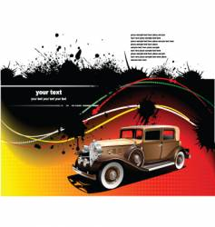 old car on grunge background vector image vector image