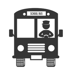 School bus route isolated flat icon vector image