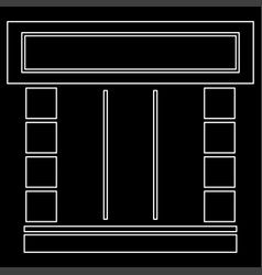 shopfront white color path icon vector image