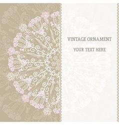 Vintage ethnic ornament mandala background vector image vector image