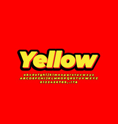 3d bold yellow black text effect or font effect vector