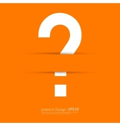 a question mark vector image