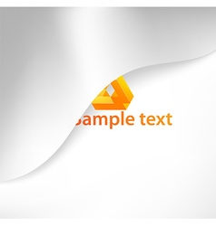 Abstract White Background with Orange Text Space vector