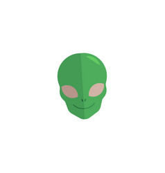 Alien face extraterrestrial creature icon vector