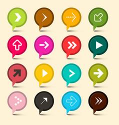 arrows symbols colorful circle icons arrow vector image