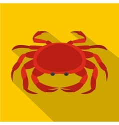 Big red crab icon flat style vector image