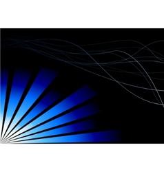 blue three-dimensional advertisement vector image