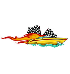 boat graphics stripe vinyl ready vector image