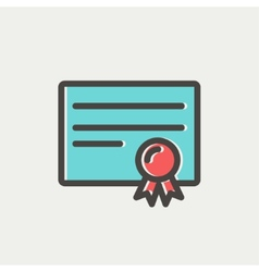 Certificate thin line icon vector image
