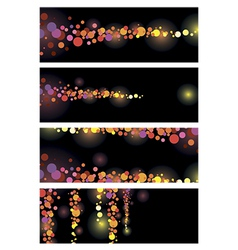 Color leaflet glamorous nights vector