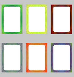 Colored abstract digital art brochure frame set vector image