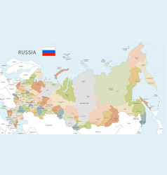 Colorful map russia vector
