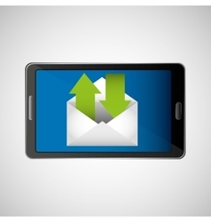 Concept email send receive message icon vector