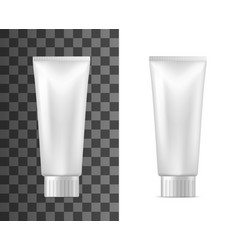 cosmetic container mockup cream or lotion tube vector image