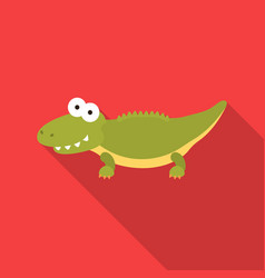 Crocodile flat icon for web and vector