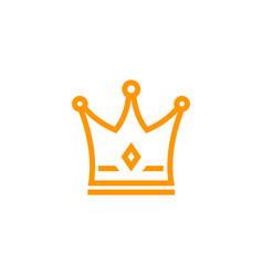 crown icon logo on white vector image
