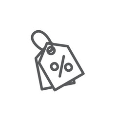 discount line icon on white background vector image