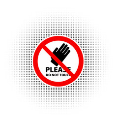 Do not touch icon vector