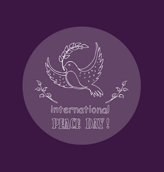dove as symbol of international peace day vector image