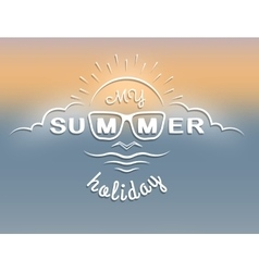 emblem on theme summer vacation vector image