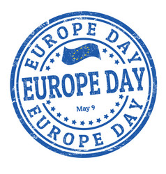 Europe day sign or stamp vector