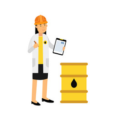 female engineer of oil industry character vector image