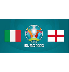 Final football euro 2020 championship italy vs vector