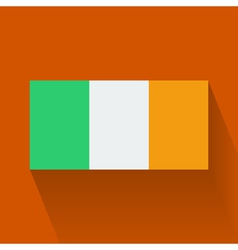 Flat flag of Ireland vector