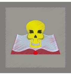 flat shading style icon book skull vector image