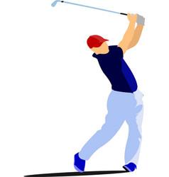 Golfer club emblem vector