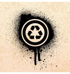 Graffiti recycle symbol vector