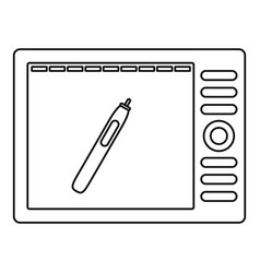 Graphics tablet icon outline style vector