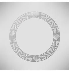 Greek ornamental circle frame vector