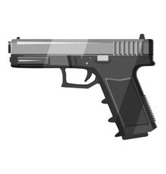 Gun icon gray monochrome style vector image