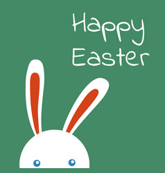 happy easter rabbit easter funny bunny vector image
