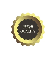 High quality label in simple style vector image