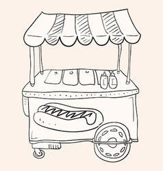 Hotdog Stand vector image