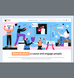 how to start clause and engage people website vector image