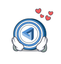 In love maidsafecoin mascot cartoon style vector