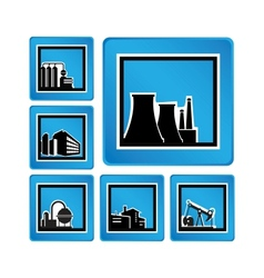 Industrial objects vector image