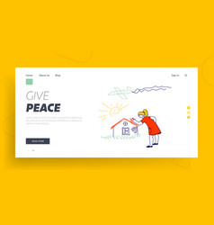 International kids day or peace day holidays vector
