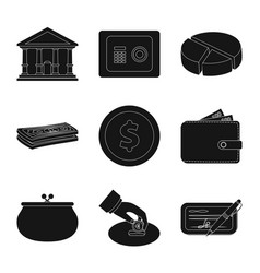isolated object of bank and money logo set of vector image