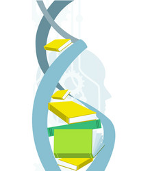 knowledge and identity concept dna spiral human vector image