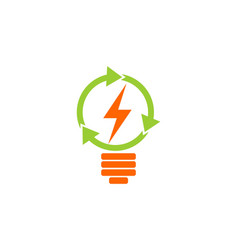 lamp recycle electric logo vector image