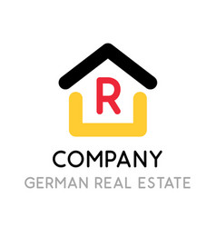 logo for real estate company in germany symbol vector image
