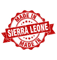 made in sierra leone round seal vector image