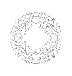 Mandala Ethnic decorative element Hand drawn vector