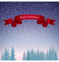 Merry Christmas Landscape in Purple Shades vector