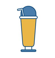 Milkshake drink icon vector