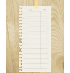 Note sheet vector